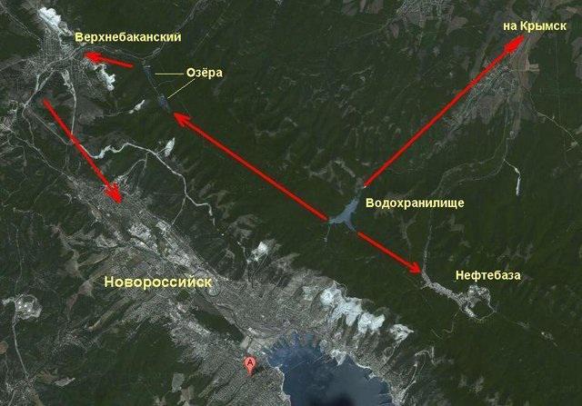 На спутниковом снимке видны