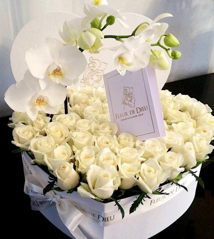 Открытка с днем рождения девушке с белыми розами