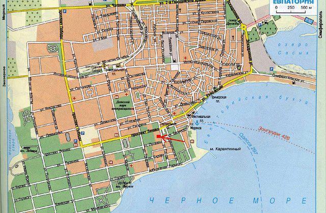 Евпатория - карта: подробная