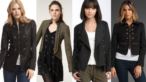 Женская одежда в стиле милитари.